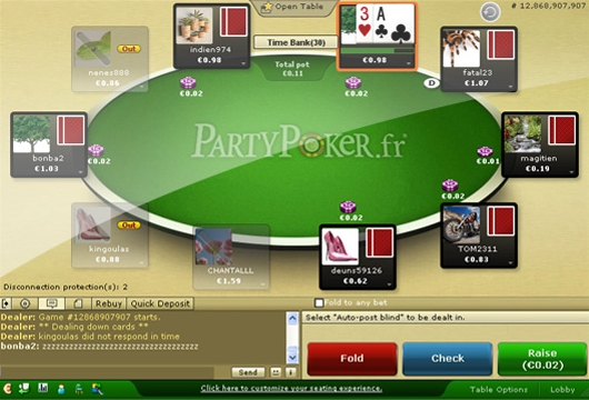 table party poker